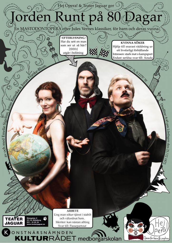 Affisch Jorden Runt på 80 Dagar